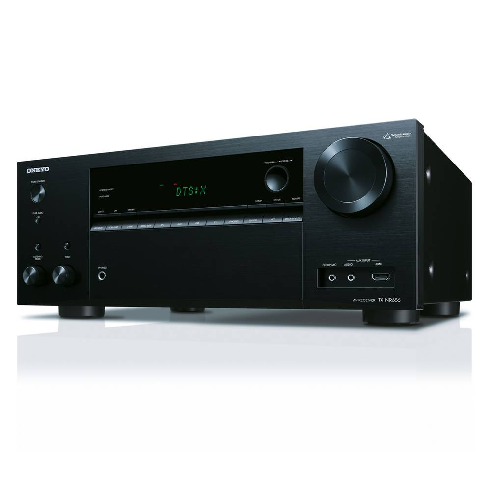 Onkyo TX-NR656 (zwart) + Onkyo SKH-410 Dolby Atmos Luidsprekers