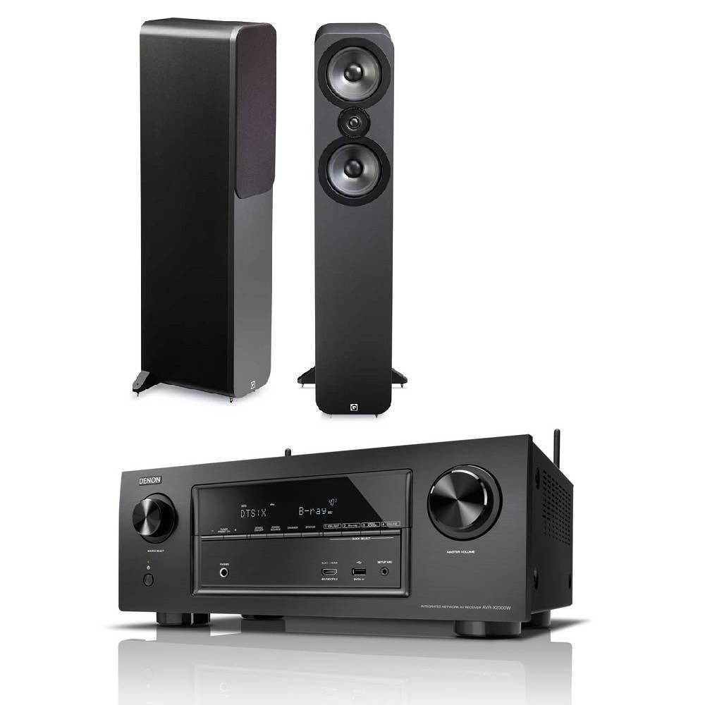 Denon AVR-X2300W + Q Acoustics 3050 (grafiet)