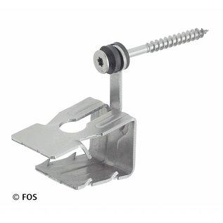 hoekkeperklem 512/2 met Torx schroef RVS (doos à 50 stuks)