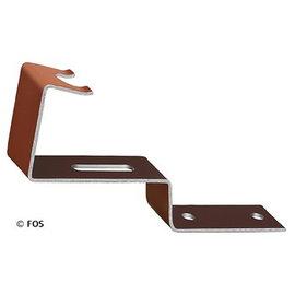 vorsthaken 470/029 aluminium bruin