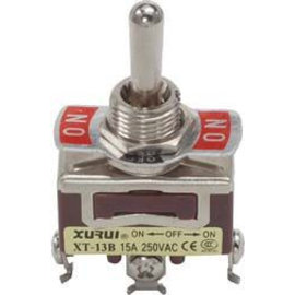 Ohmeron Large Toggle Switch enkelpolig on-off-on