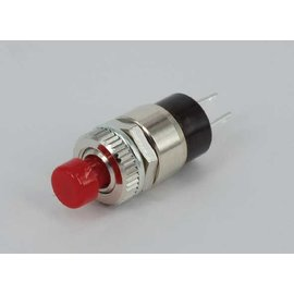 Mini drukknop rood off-(on)