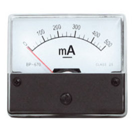 Paneelmeter 0-500mA DC