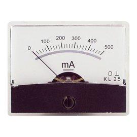 Draaispoel paneelmeter 0-500mA DC