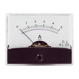 Draaispoel paneelmeter 0-5A DC