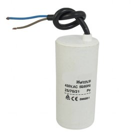 Ohmeron Motor run capacitor 8 µF 35x65mm 450Vac 5% 85°C