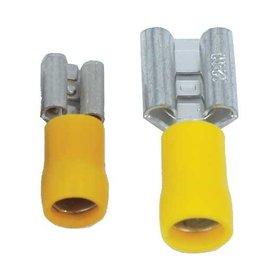 Ohmeron 6,3x0,8mm Geel - 100 stuks