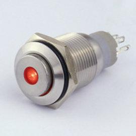 Sintron Connect Drukknop 16mm rood 4-12V