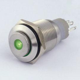 Sintron Connect Drukknop 16mm groen 4-12V