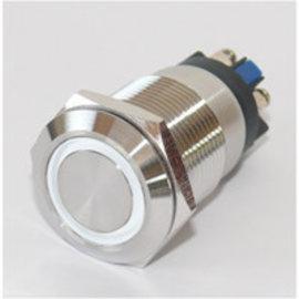Sintron Connect Drukknop 19mm wit 6-24V
