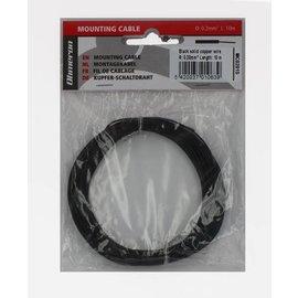 Ohmeron Stugge montagedraad 0,2mm² 10m zwart