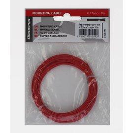 Ohmeron Stugge montagedraad 0,2mm² 10m rood