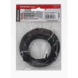 Ohmeron Soepele Montagedraad 5m zwart 2mm²