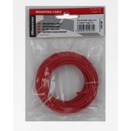 Ohmeron Soepele Montagedraad 5m rood 2mm²