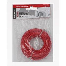 Ohmeron Soepele Montagedraad 5m rood 3mm²