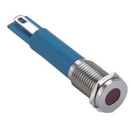 Ohmeron Signaallamp 12-24V Blauw metalen uitvoering