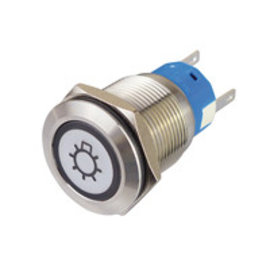 Sintron Connect RVS drukknop 19mm 4-12V