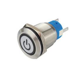 Sintron Connect RVS schakelaar 19mm met verlichting