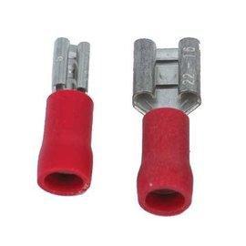 Ohmeron 6,3x0,8mm Rood - 100 stuks