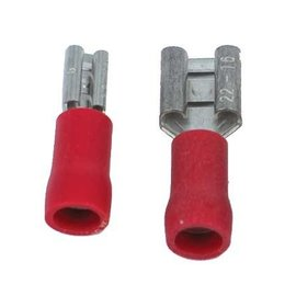 Ohmeron Opschuifcontact vrouwelijk 2,8x0,8mm Rood - 100 stuks