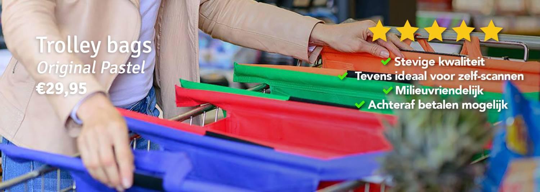 PLASTIC TASJE!?! NEE DANK U! GEBRUIK DE HANDIGE TROLLEY BAGS!