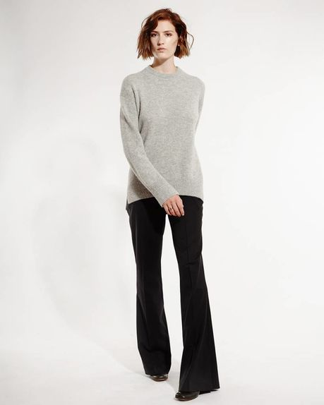 Anne alpaca crewneck / light grey