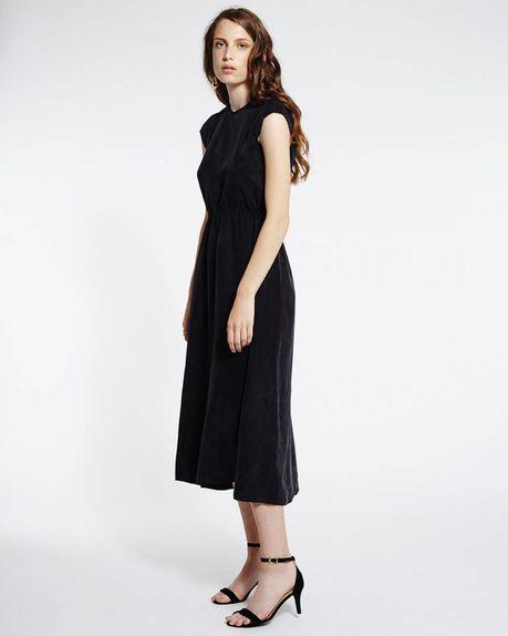Cali Cupro summer dress / black