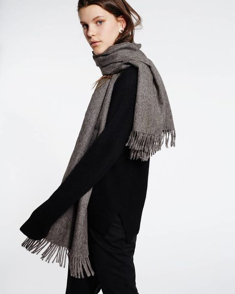 Detale Studio Karin alpaca scarf / anthracite