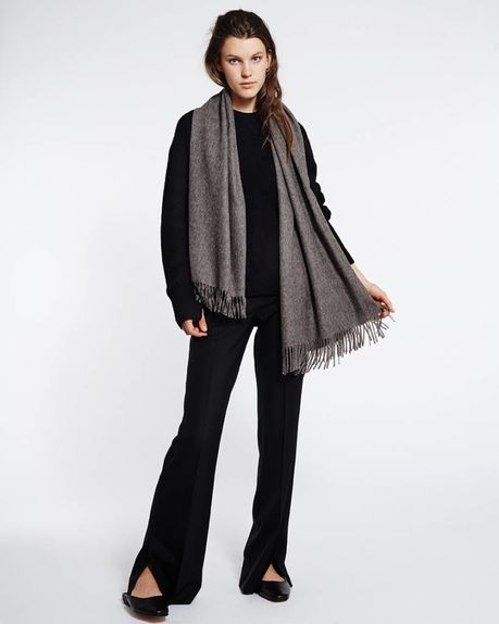 Detale Studio Karin alpaca scarf antracite