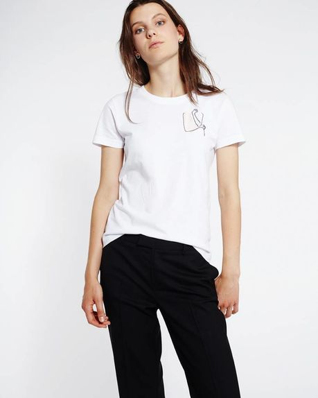 Detale Studio Sammy logo t-shirt white