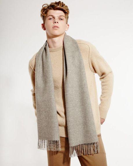 Detale Studio Ludo alpaca scarf light grey