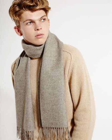 Ludo alpaca scarf / light grey
