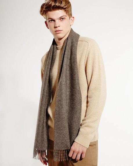 Detale Studio Ludo alpaca scarf antracite