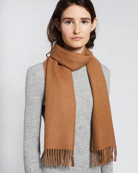Detale Studio Karin alpaca scarf camel  - Copy