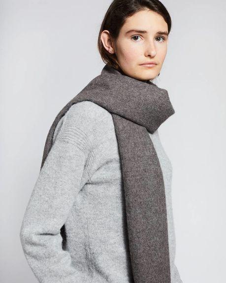 Detale Studio Karin small alpaca scarf anthracite