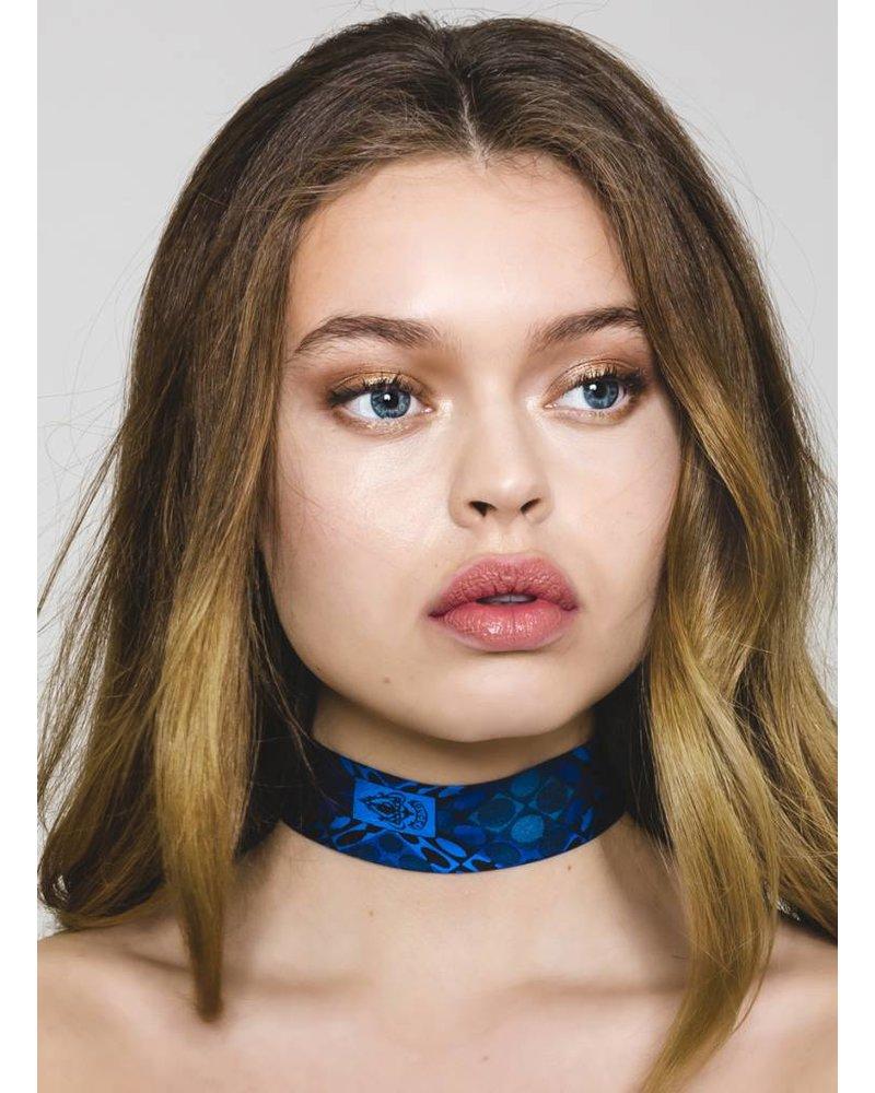 SOSTER Vintage Tie Choker / Gucci Blue