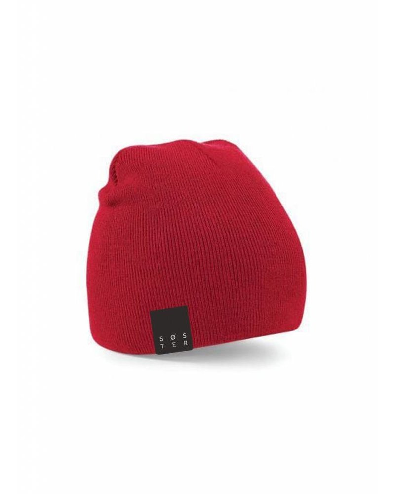 SOSTER Red Beanie