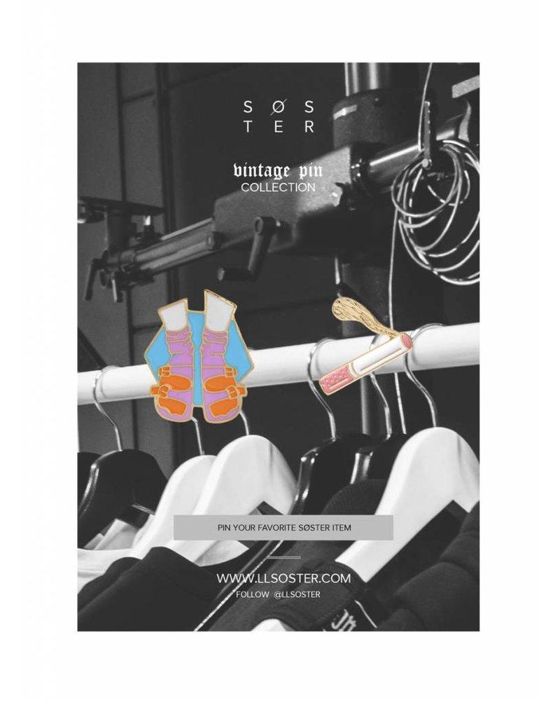 SOSTER Vintage Pins Socks Cigarette