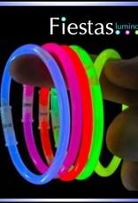Pulseras luminosas variadas (100 uds)
