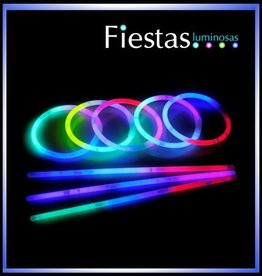 Pulseras luminosas tri-color (100 uds)