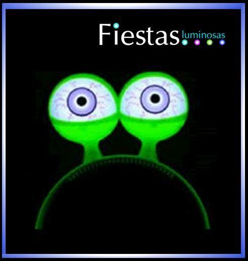 Diadema Luminosa Ojos Alien LED, ojones saltones divertidos (5 uds)