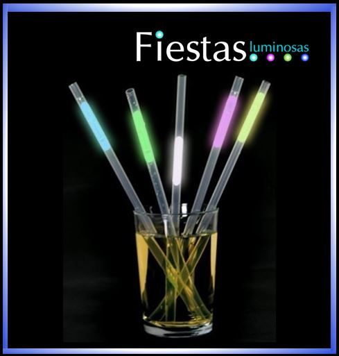 Glowing Straws (packs of 25 pcs)