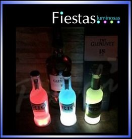 LED Bottle or drink coasters ( 5 uds )