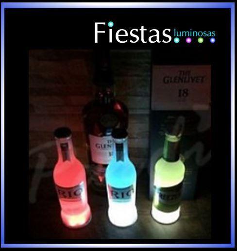 LED Bottle or drink coasters ( 5 uds )