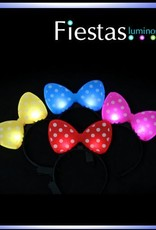 LED polka dot bow headbands – assorted colours( 5 uds )