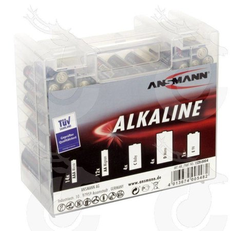 Ansmann Alkaline rode 1.5V mixbox35