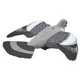 ProLoo Lokvogel vliegende duif 41cm met EVA (foam) vleugels geflockt