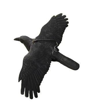 ProLoo Lokvogel vliegende kraai geflockt 44x80cm incl. metalen pen