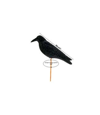 "ProLoo Lokvogel kraai magnum geflockt ""Waggle"" 50 cm"