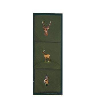 Fritzmann Groene zakdoeken geborduurd